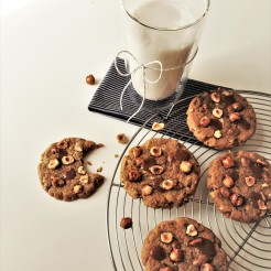 recette cookie aux noisettes et praliné