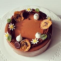 recette : entremet chocolat coco banane comme un chef