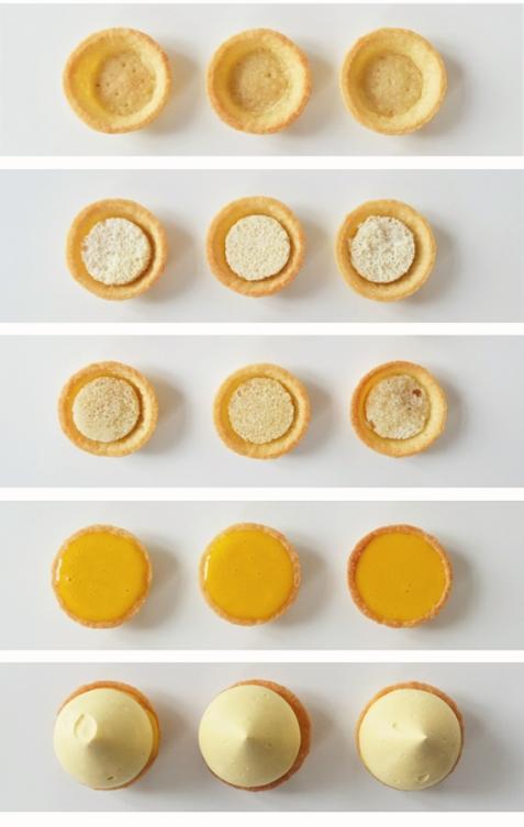 schéma montage tarte au safran chocolat blanc