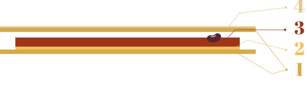 Schema de montage de la galette yuzu et noisette