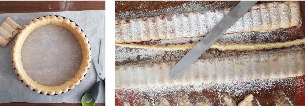 tailler un biscuit cuillère pour faire une charlotte aux fraises blog patisserie gourmand et curieux 2020